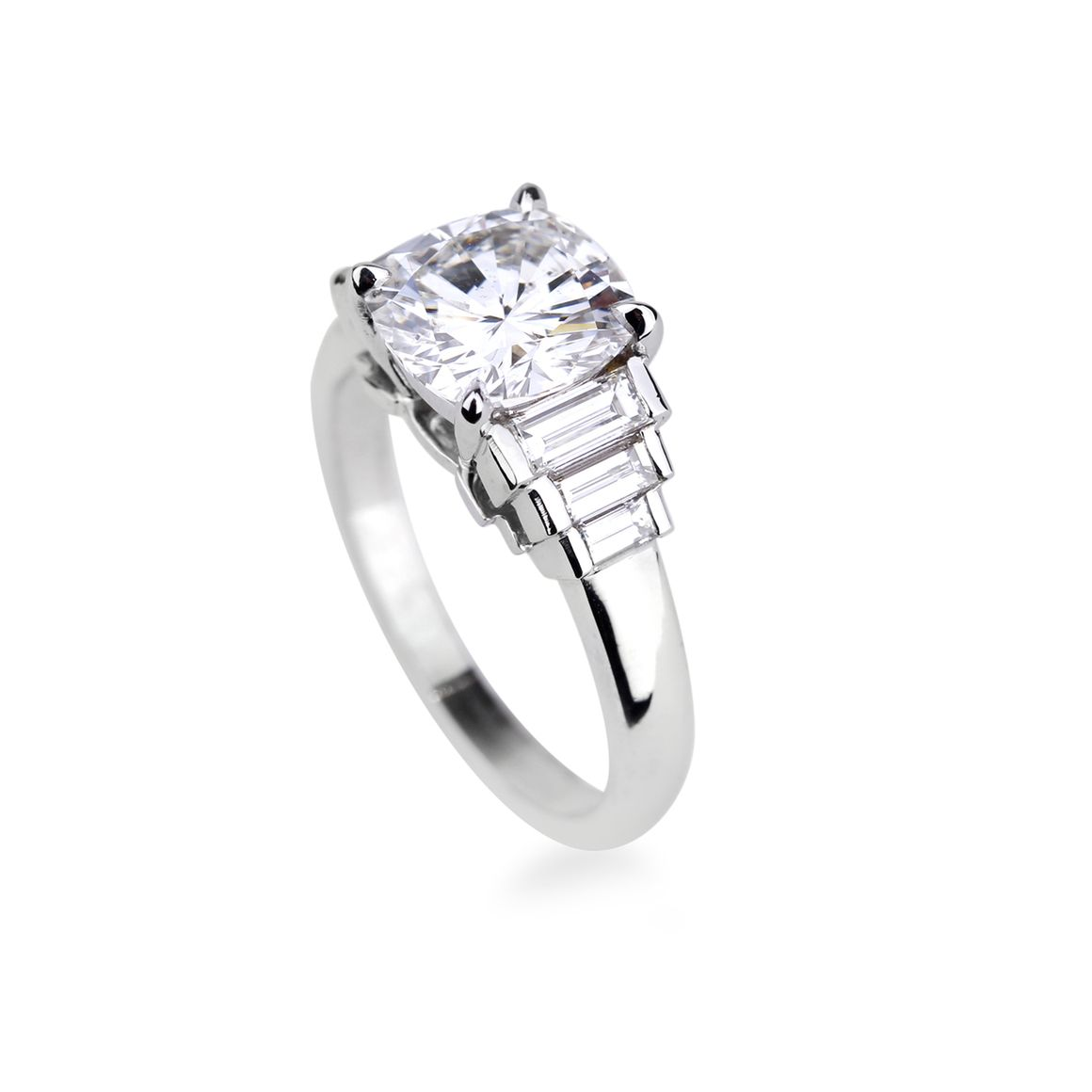 bague diamant taille baguette