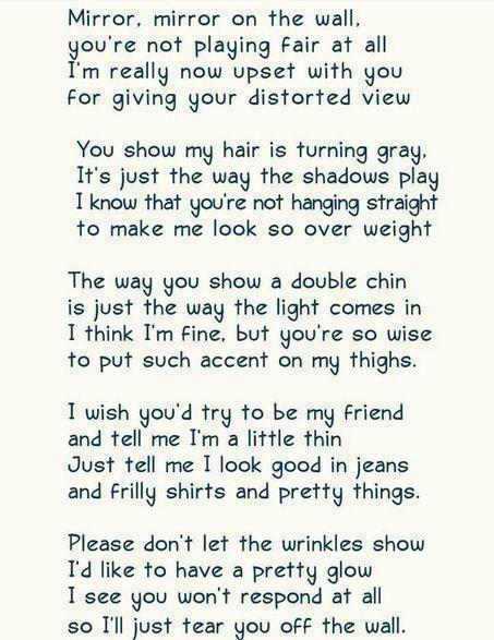 Mirror Mirrorilove This Poemwhat A Poet Lol So Muchbahhh