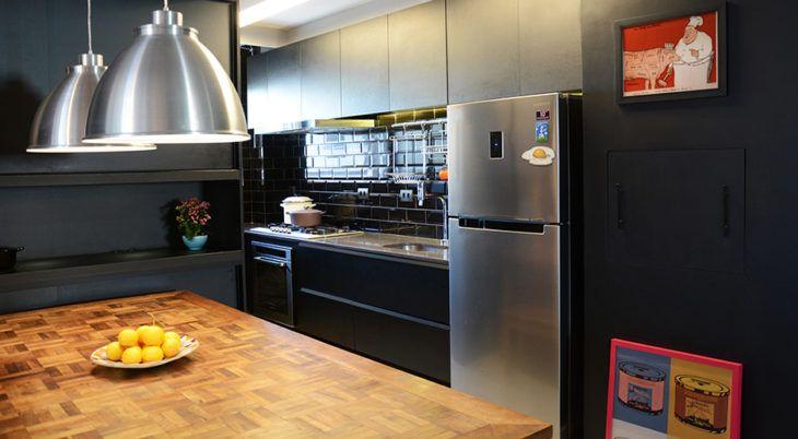 Apartamento de 69 m² decorado para um casal de chefs de cozinha
