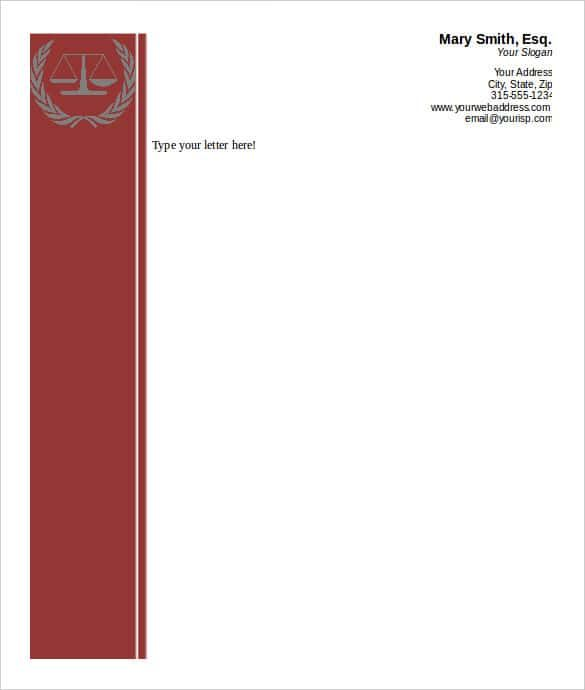attorney business letterhead word template download templates free - free printable business letterhead templates