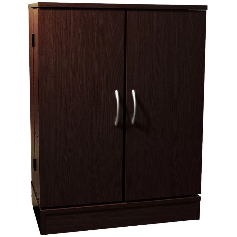 Details about dvd storage cabinet doors dark oak colour wooden