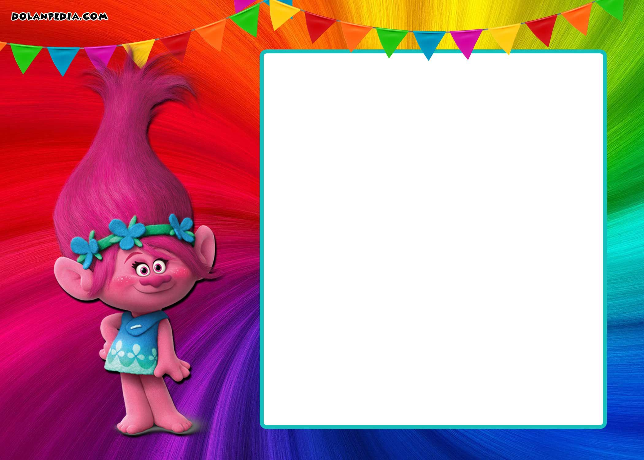 graphic regarding Trolls Printable Invitations referred to as No cost Printable Trolls Invitation Totally free Printable