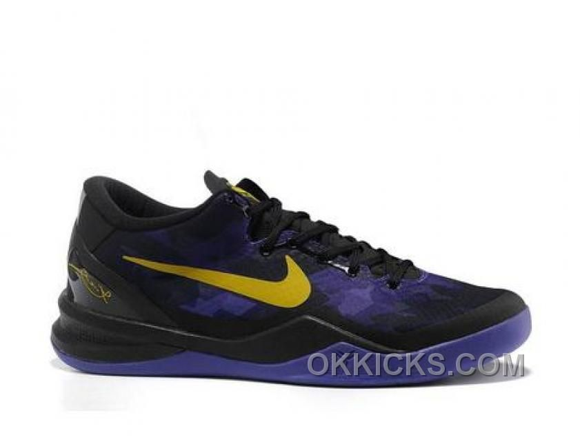 check out 67d70 0d012 new zealand buy 2013 new nike zoom kobe 8 lakers away black purple yellow  basketball shoes