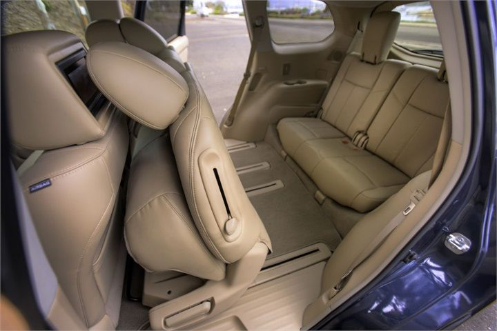 The third-row seat can recline, which Nissan stated is a segment ...