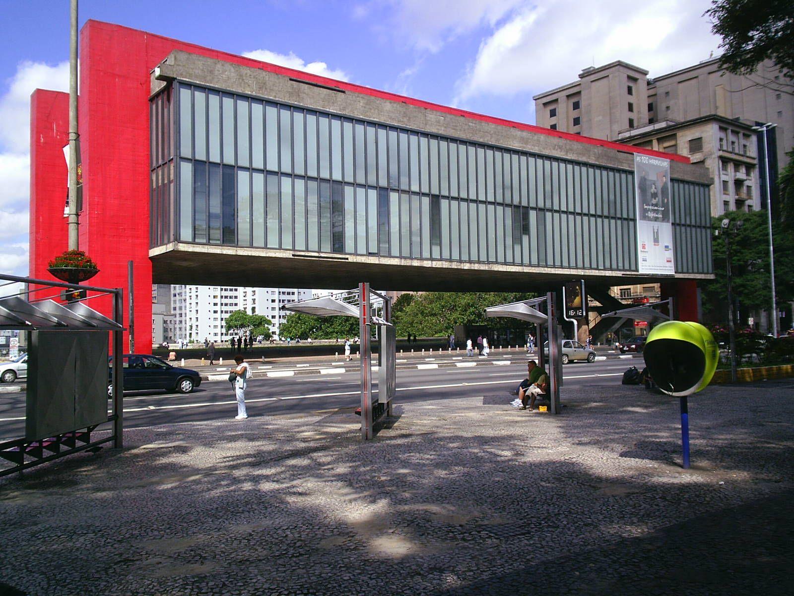 Museu De Arte De Sao Paulo Masp S Paulo Brasil Projeto Lina Bo Bardi
