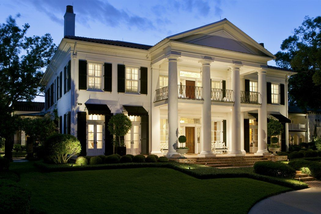 porch Historical Concepts Florida mansion, Traditional