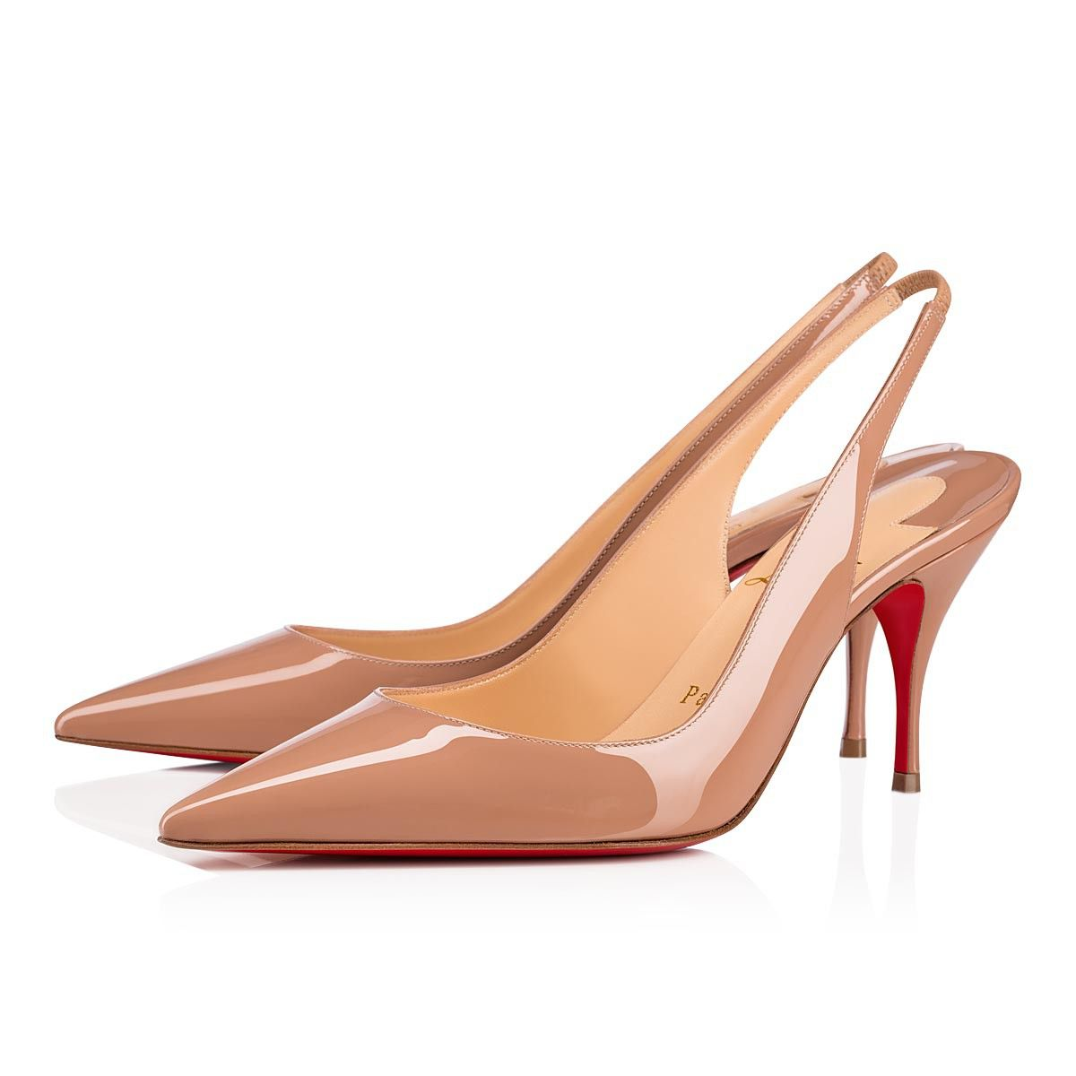 0e3ba0aad07 Clare Sling 80 Nude Patent Leather - Women Shoes - Christian ...