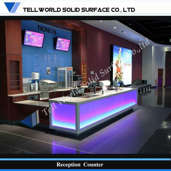 Luminated Conception Commerciale Led Lumière Comptoir De Bar