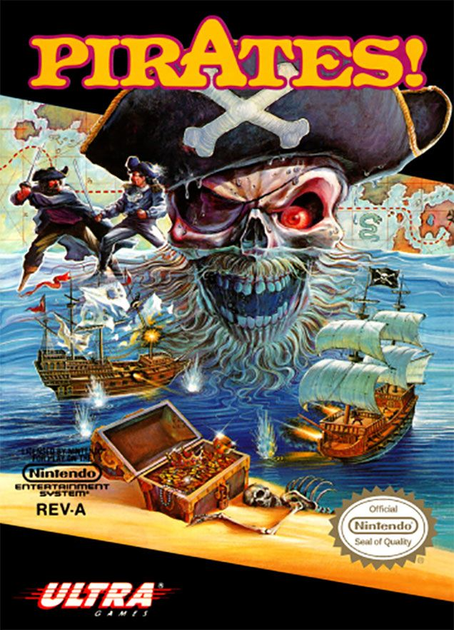 Remember Classic Box Art Was Marvellous Box Art Nes Pirates