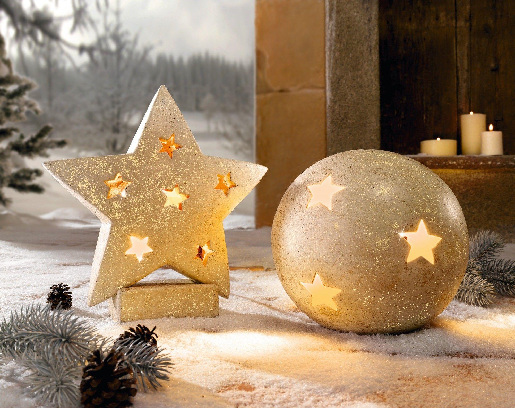 terracotta stern in gold patiniert weihnachtsdeko. Black Bedroom Furniture Sets. Home Design Ideas