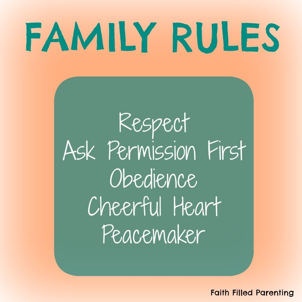RULES OF FAMILY LIFE 34