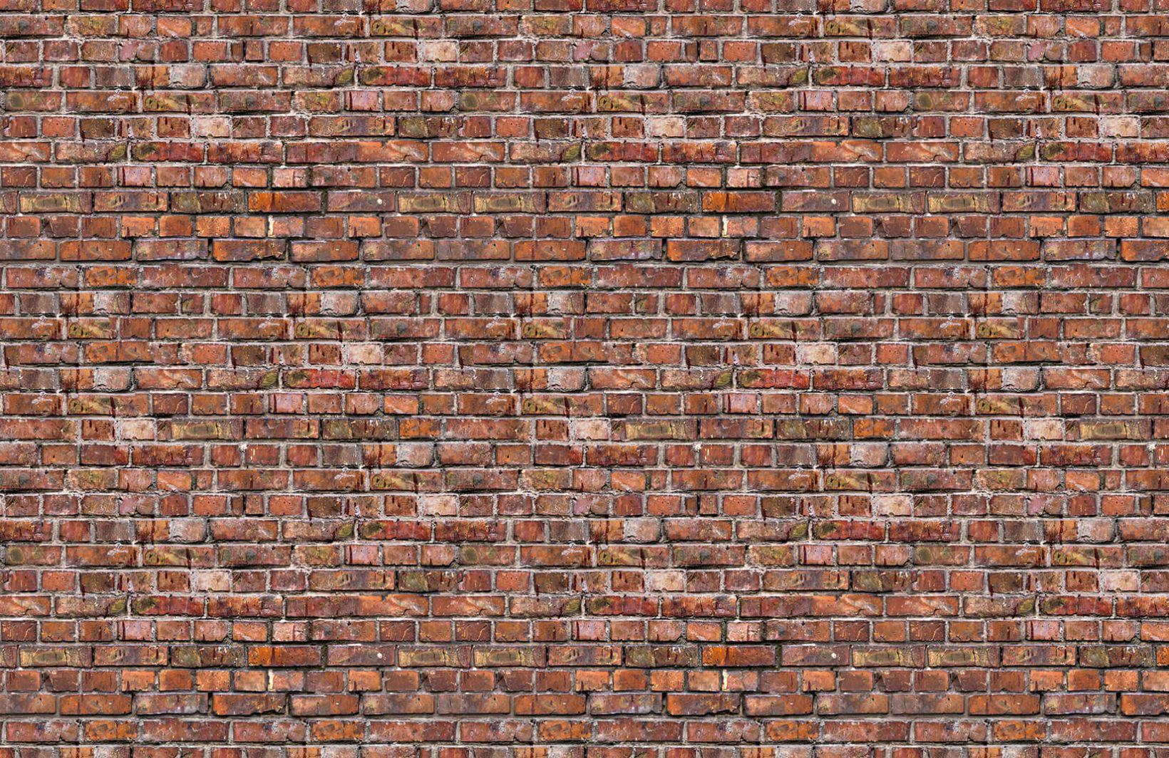 Red Brick Effect Wallpaper Aged Brick Wall Muralswallpaper Brick Wallpaper Brick Wallpaper Mural Exposed Brick Wallpaper