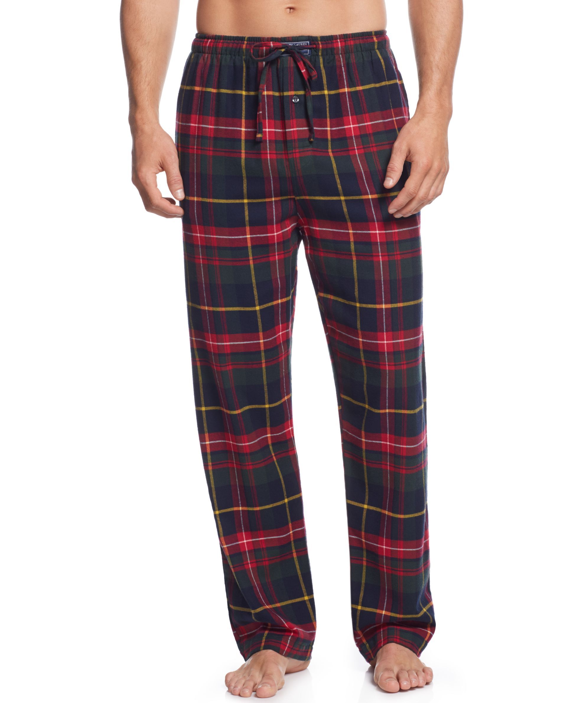 8a764de85e Plaid PJs from Polo Ralph Lauren   his new comfort zone.