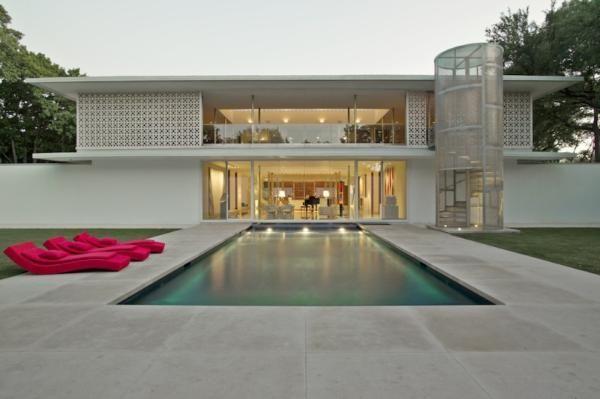 Buchanan Architecture Npha08 Oak Court Ext 600x399 Jpg 600 399 Mid Century Modern House Architecture Midcentury Modern