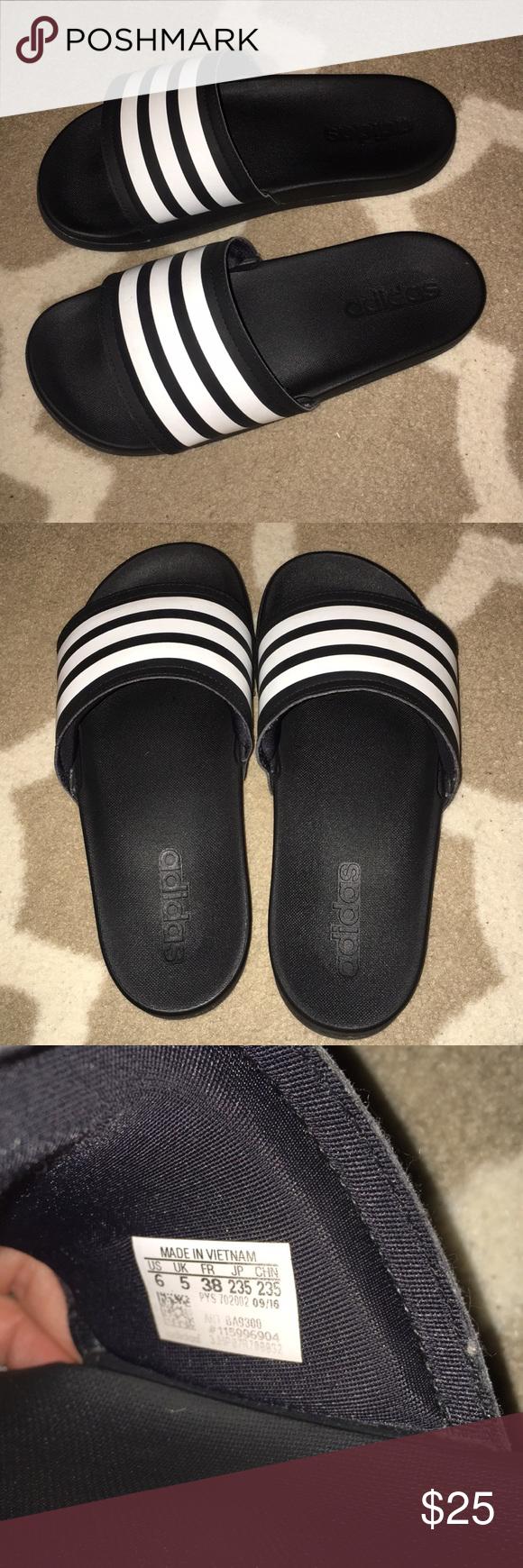 Adidas Slides Size 6 but run big a56129197