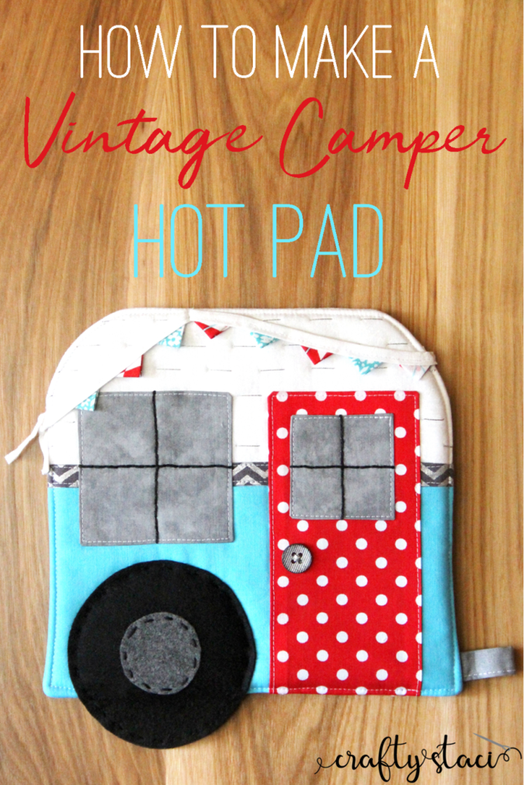 Vintage Camper Hot Pad #beginnersewingprojects