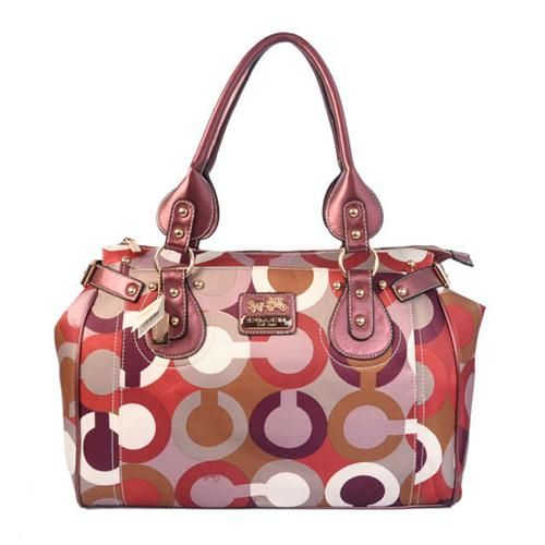 Look Here! Coach In Signature Large Pink Satchels BBA Outlet Online