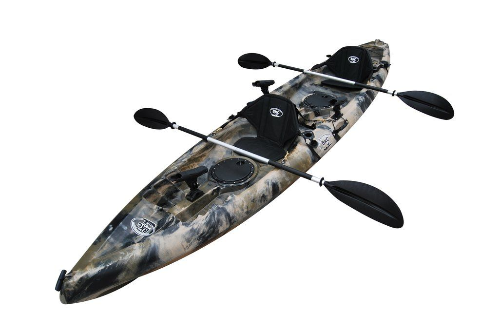 Bkc Tk181 12 5 Tandem Sit On Top Kayak W 2 Soft Padded Seats Paddles 7 Rod Holders Included 2 Person Kayak Best Fishing Kayak Fishing Kayak Reviews 2 Person Fishing Kayak