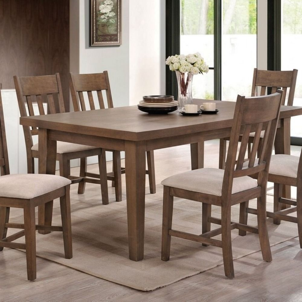 Ulysses Weathered Oak Wood Rectangular Dining Table By Acme