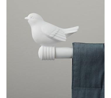 Curtain Accessories Curtain Rod White Bird Finials