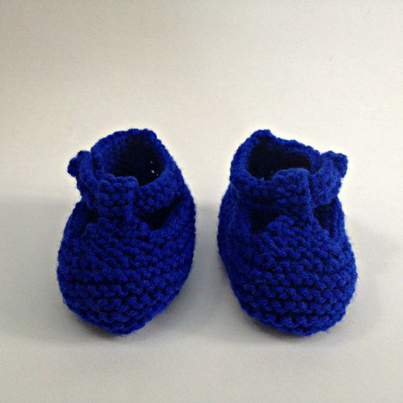 Baby Slippers in Blue. Sizes