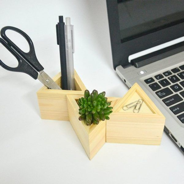 40 Unique Desk Organizers Pen Holders Unique Desk Organizer Wooden Organizer Wooden Desk
