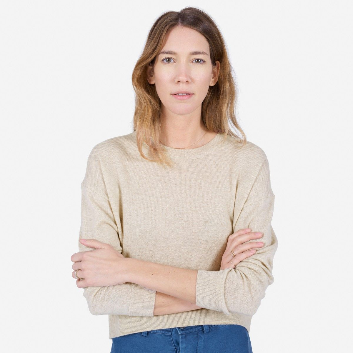 cashmere cropped crew in oatmeal - $115 #everlane | in fa$hion we ...