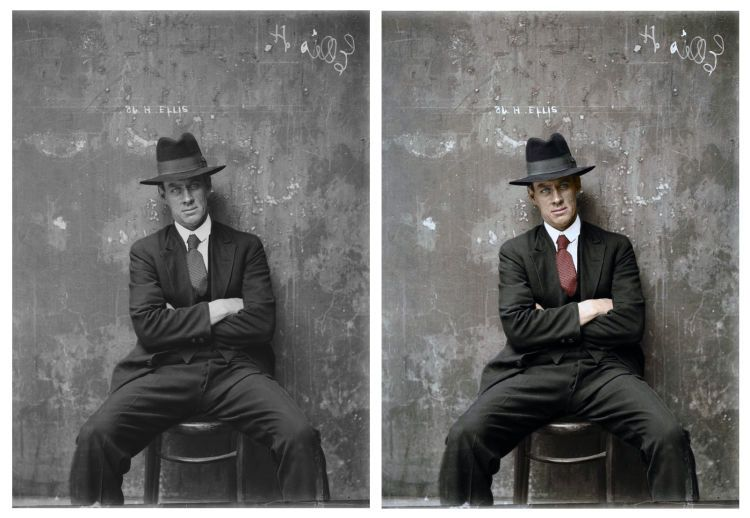 Colorized Vintage Mugshots From The 1920s Bring Australian