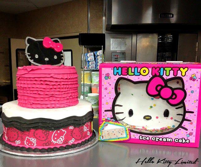 Admirable Hello Kitty Ice Cream Cake With Images Ice Cream Cake Cake Personalised Birthday Cards Paralily Jamesorg