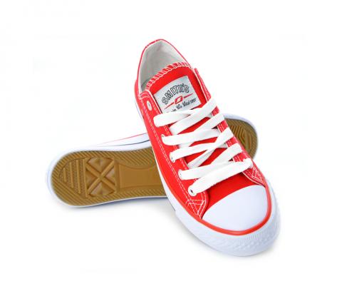 Trampki Damskie Niskie Czerwone Smiths Canvas Shoes Chuck Taylor Sneakers Chucks Converse