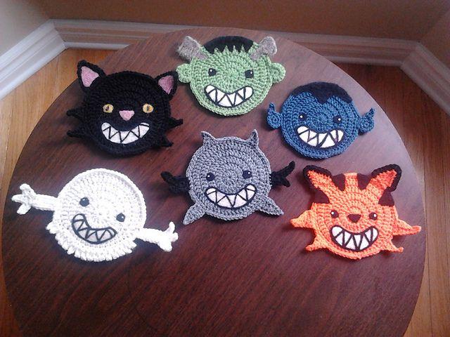 Halloween Coasters Free Crochet Patterns 365 Crochet Lillians