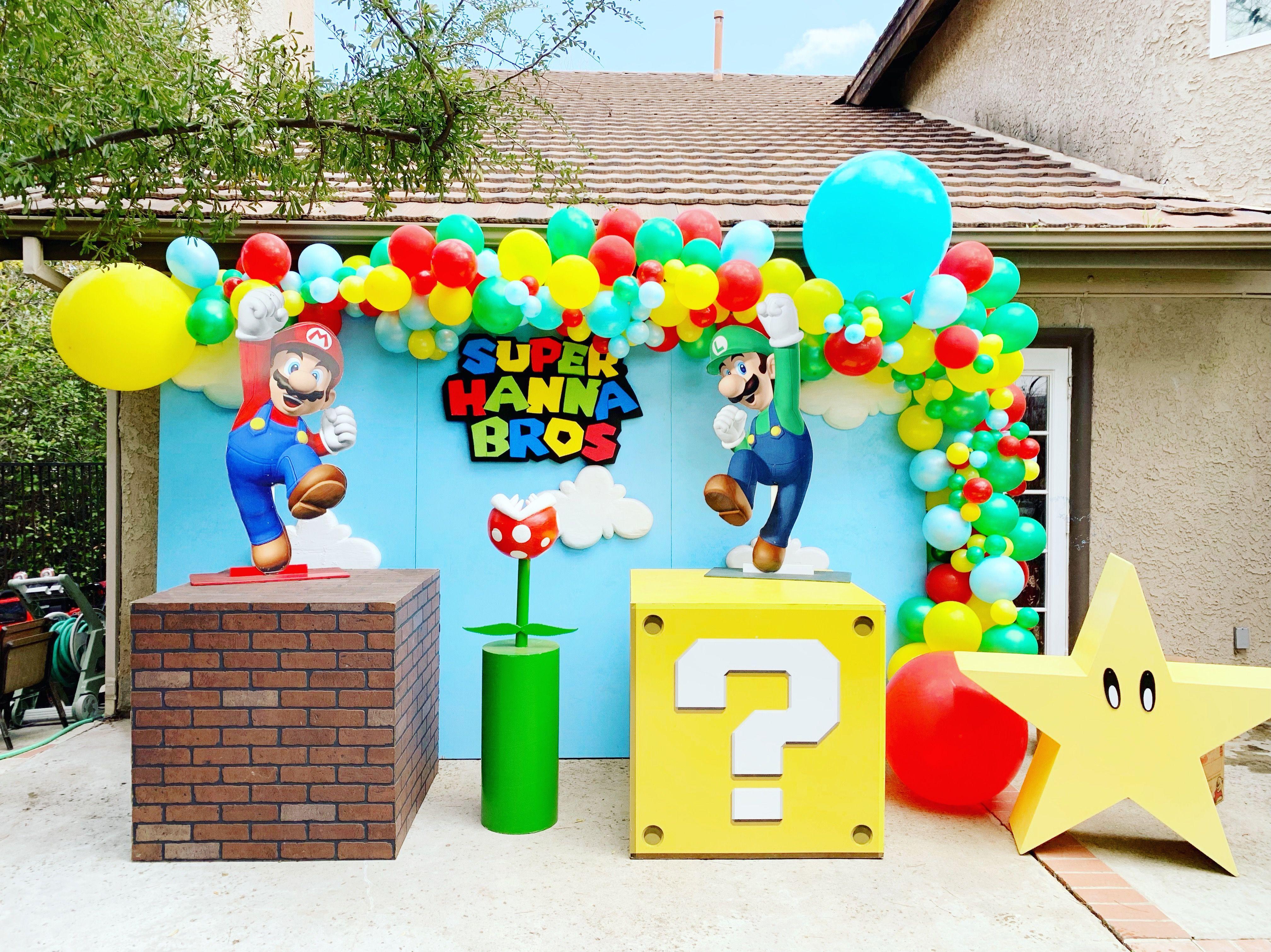 Super Mario Party Decoracion De Mario Bros Fiesta De Cumpleaños De Mario Fiesta De Mario Bros