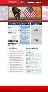 Political website #design for the Douglas County Republican Party. www.transformationmarketing.com #nebraska