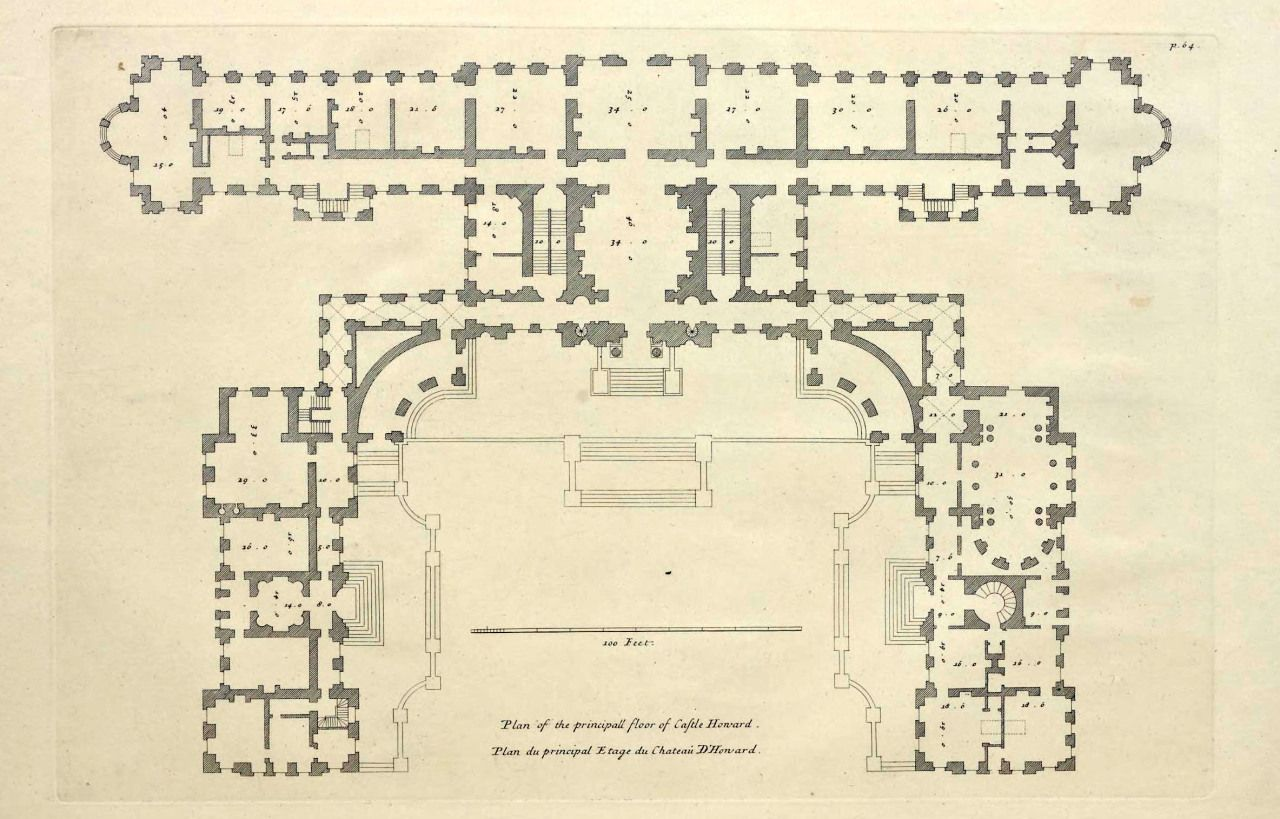 Principal Floor Plan Of Castle Howard England Archi Maps Photo Castle Howard Castle Floor Plan Castle Plans