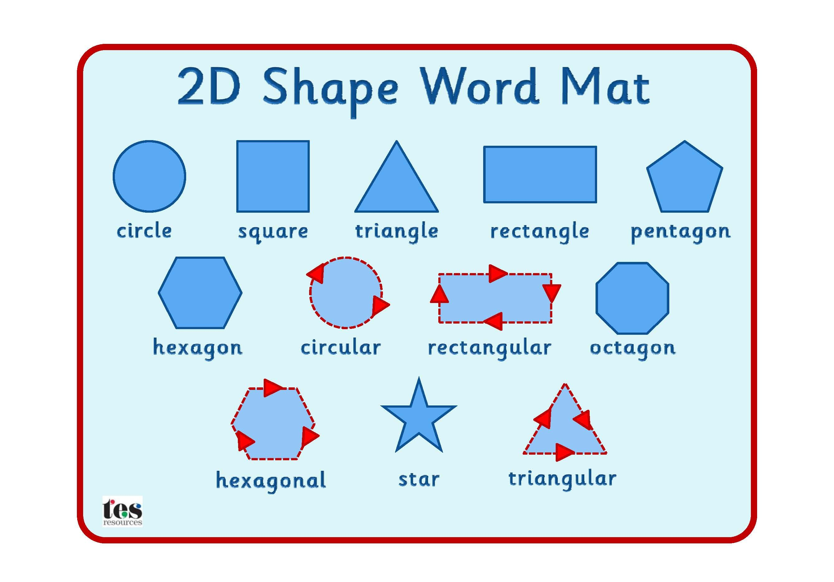 Simple 2d Shape Mat Clearly Laid Out Mat With Supportive