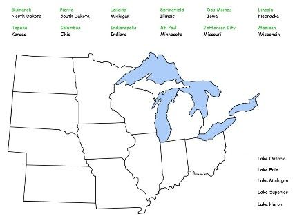 Middle West Region Map Puzzle 4SS Midwest Region Pinterest