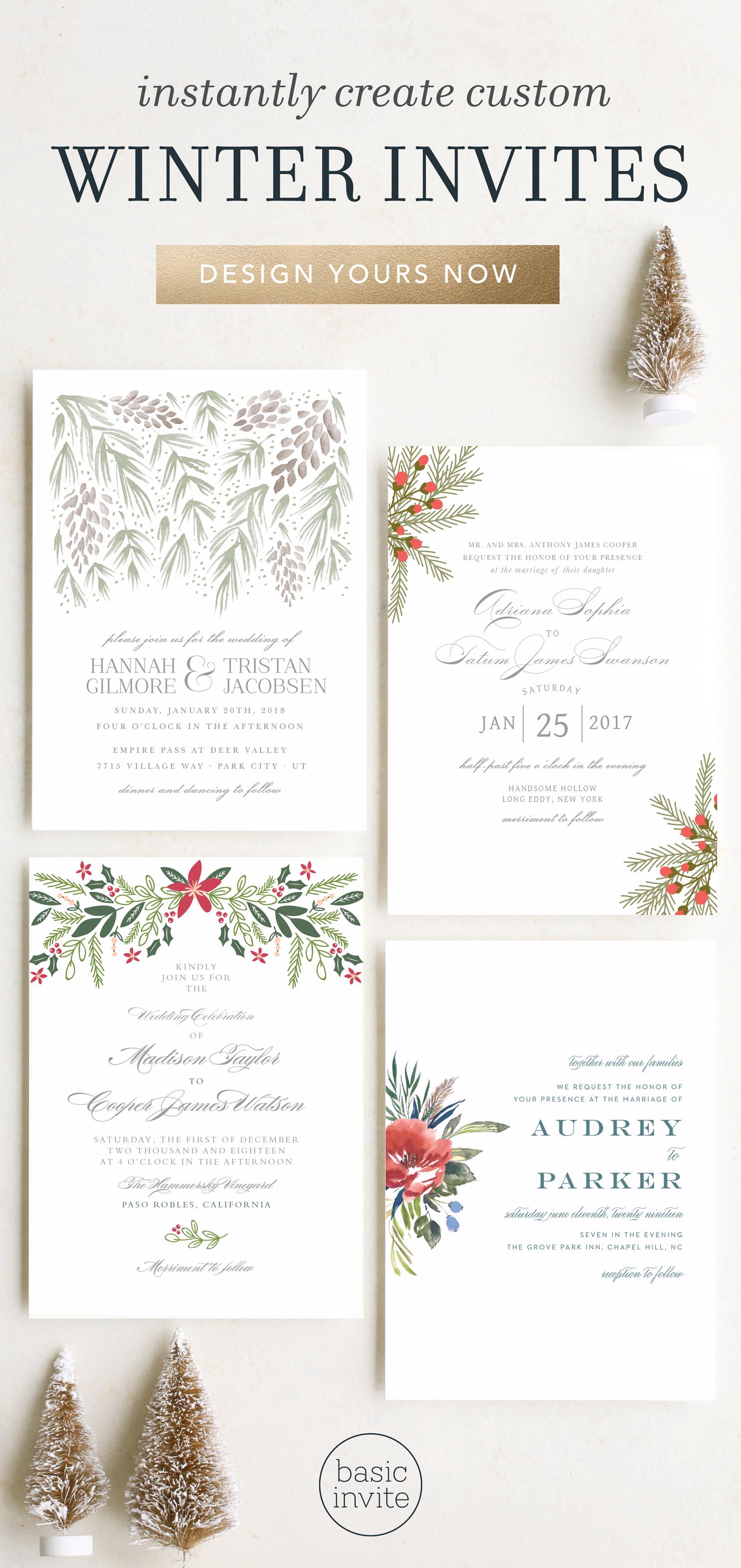 Winter Wedding Invitations Christmas Wedding Ideas Winter Wedding Ideas Floral Wedding Invitations Winter Wedding Invitations Christmas Wedding Invitations