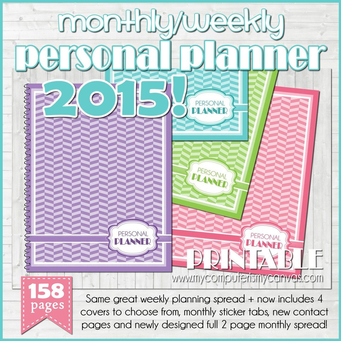 Printable Monthly Planner 2015: Printable 2015 Planner... Perfect For Any Busy Lifestyle