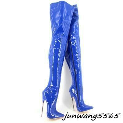 Thigh high boots heels