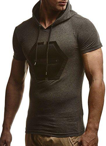 #LEIF #NELSON #Herren #T #Shirt #Sweatshirt mit #Kapuze #Slim #Fit #LN775