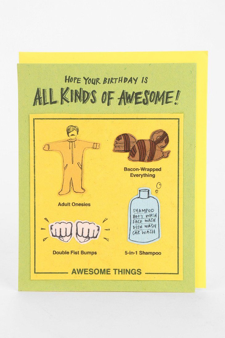 All The Awesome Things Birthday Card At Urban Outfitters