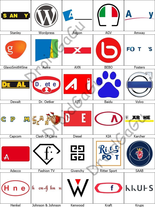 Level 8 Logo Quiz Answers Bubble Droidgagu Logos Famosos Alfabeto Simbolo
