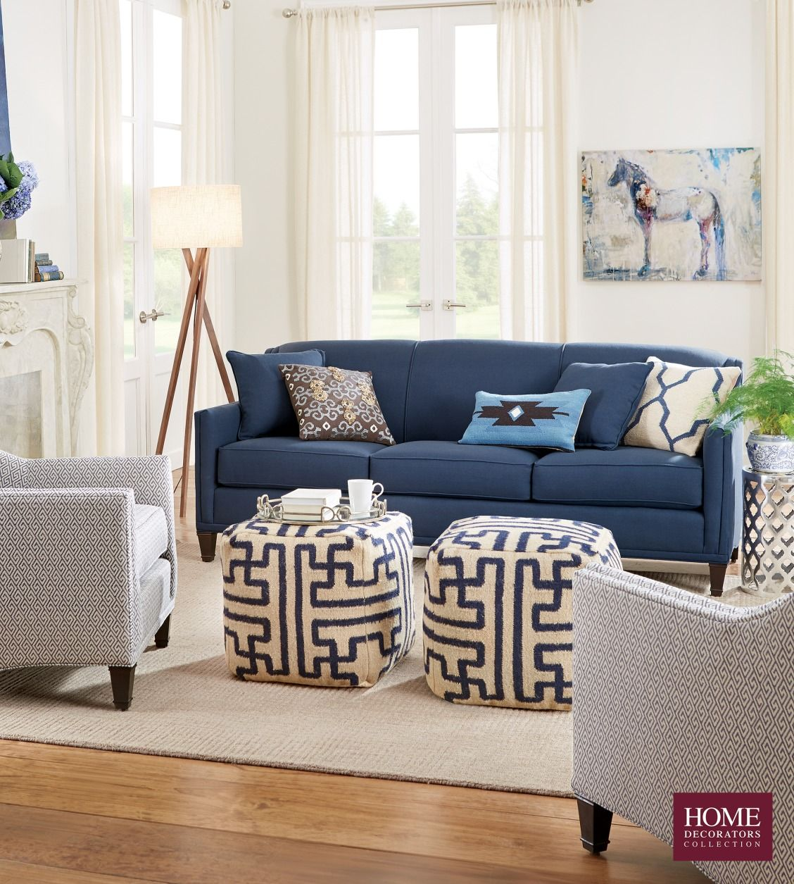 Best Beautiful In Blue Our Custom Rockford Sofa Has Sleek 400 x 300