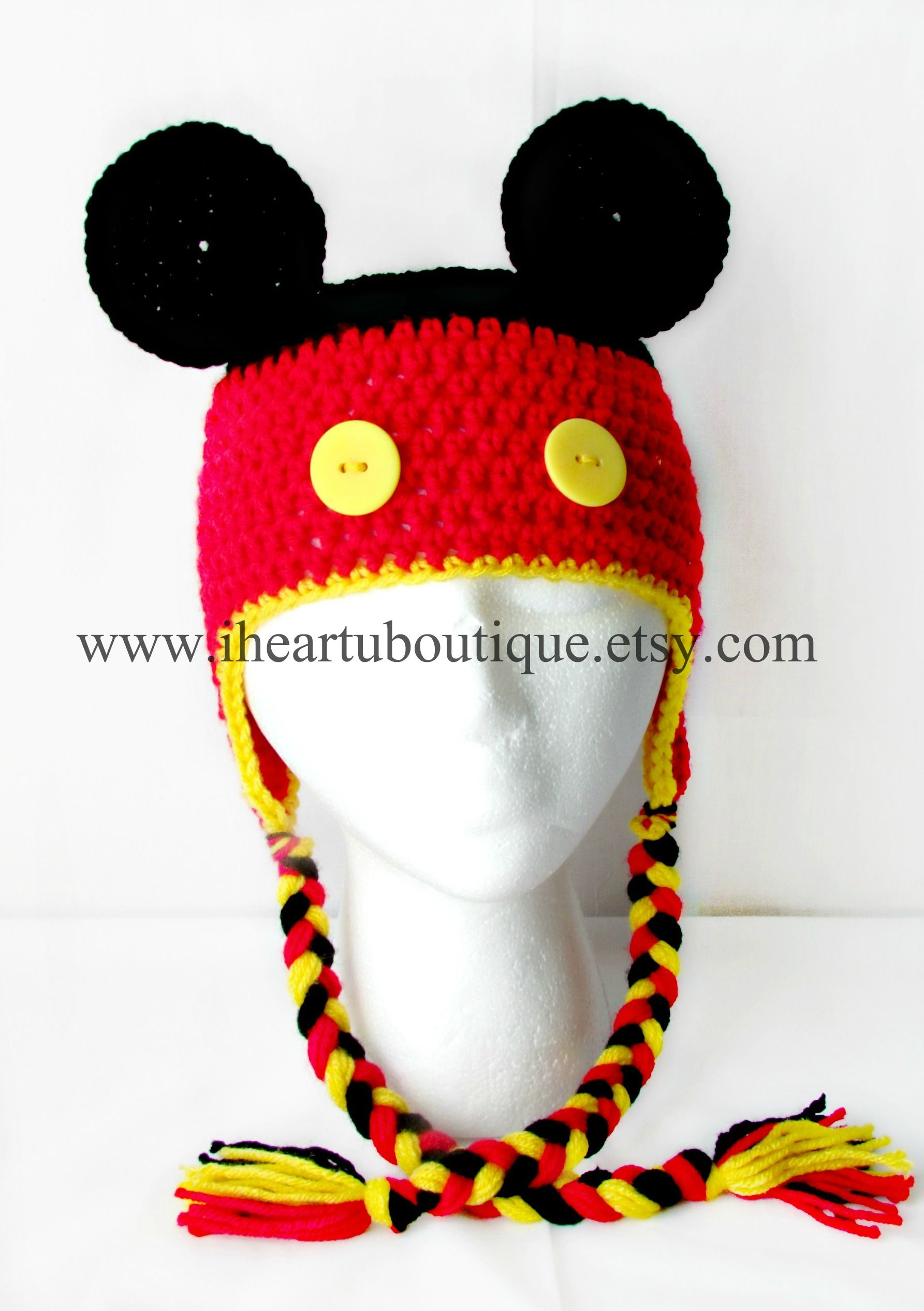 Mickey Mouse | Mickey Mouse | Pinterest | Gorro tejido, Gorras and ...