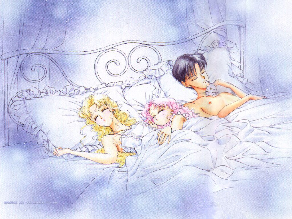 Usagi, Chibiusa, & Mamoru - i\'ve always found this picture really ...