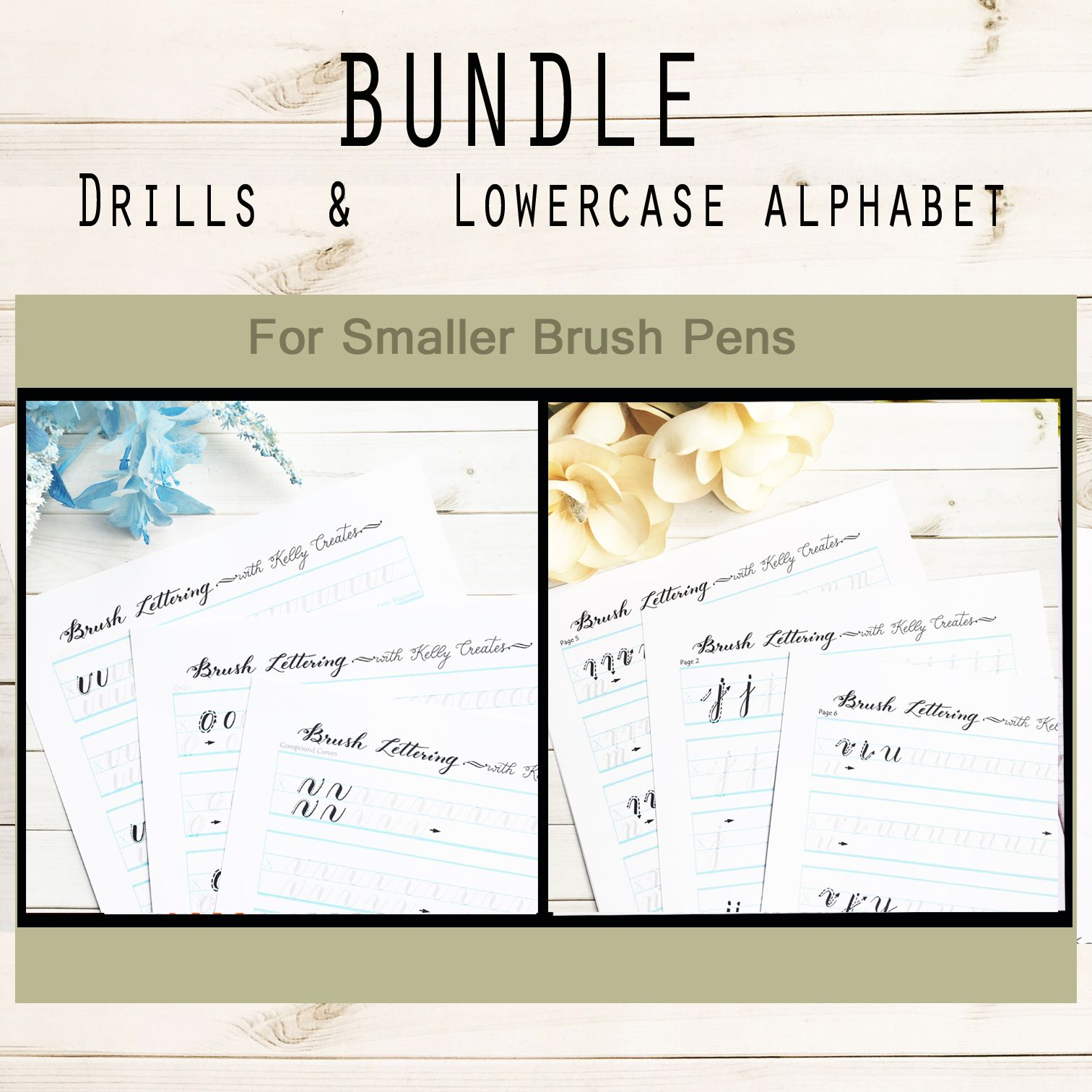 Bundle 2 Drills Amp Lowercase Alphabet For Small Brush Pens
