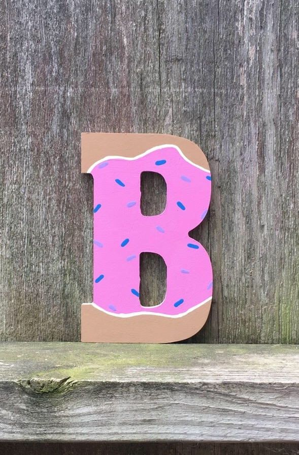 Strawberry Donut Letters, donut party, donut wall art, donut decor