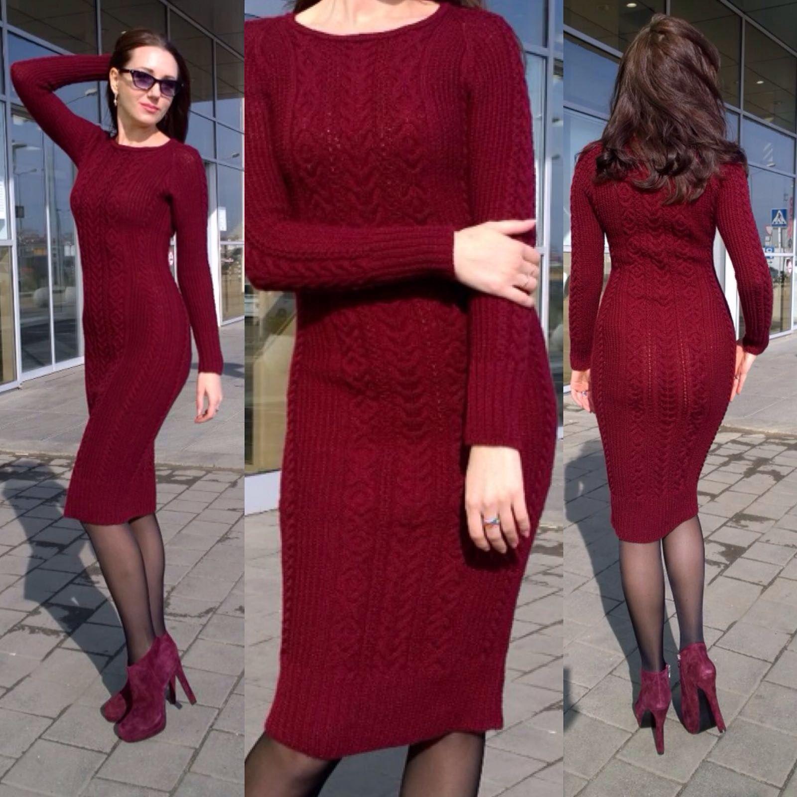 Облегающее платье Марсала в разделе Вяжем сами на verena.ru ... 504e7548519