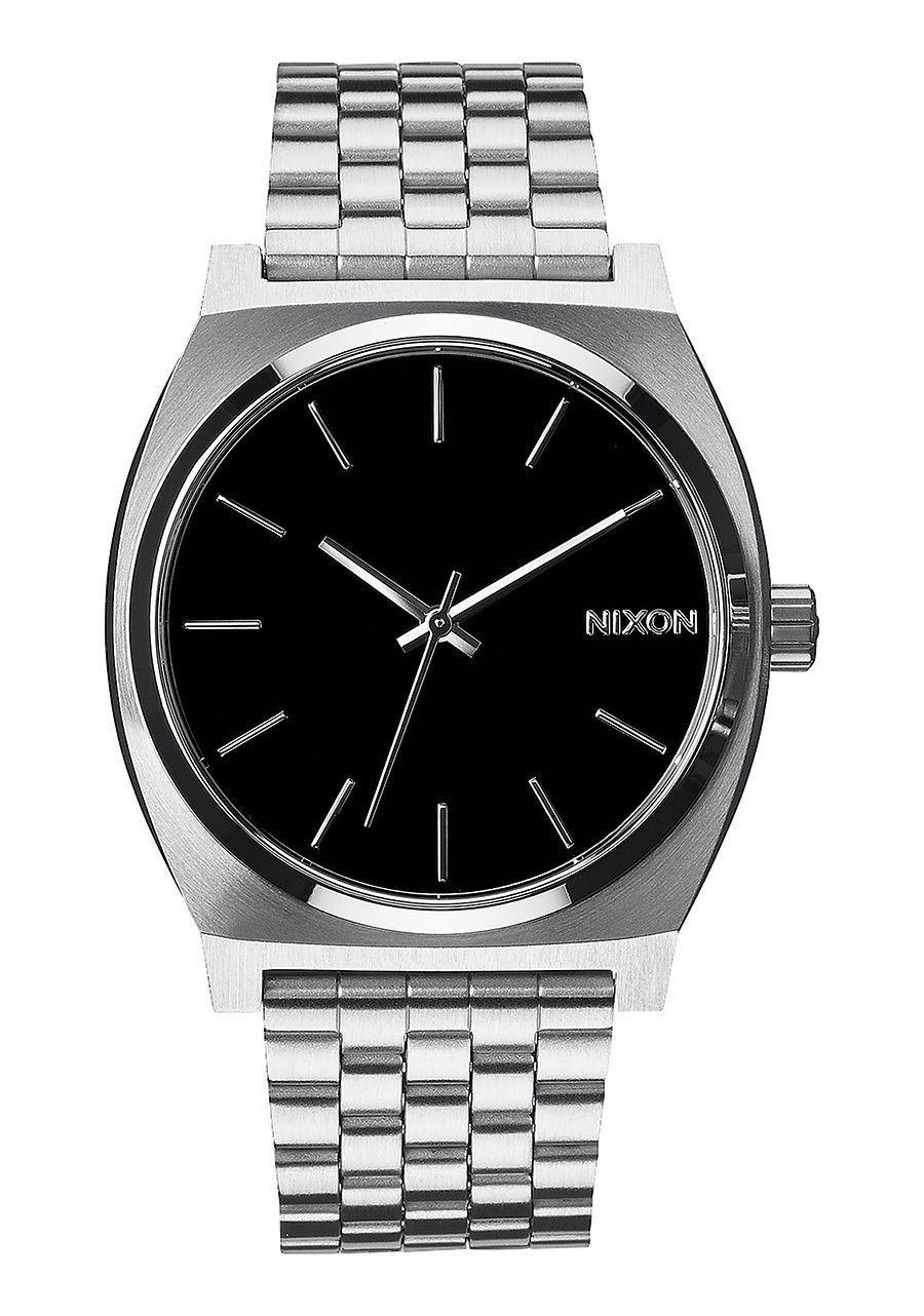 da0e70b3f63 Nixon Time Teller Black and Silver Watch
