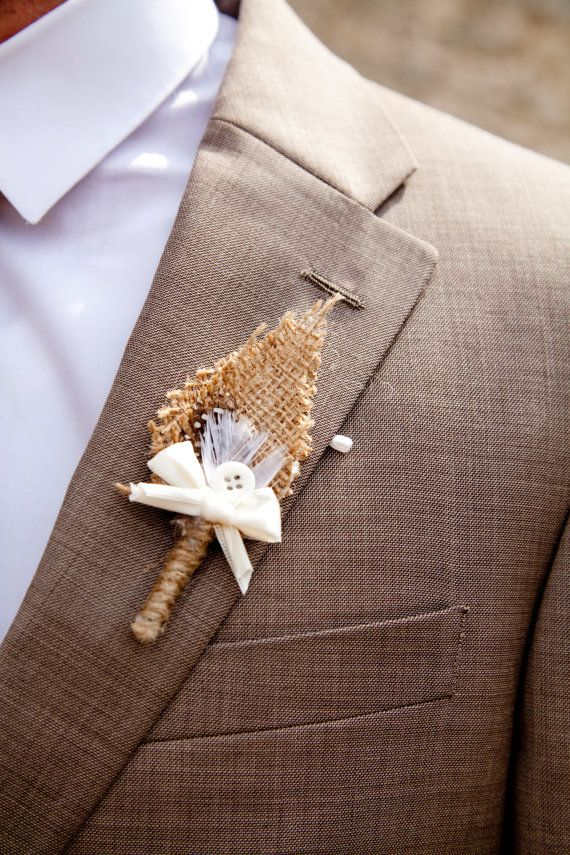 25 Rustic Boutonniere Ideas - Upcycled Treasures